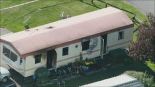 Scene of St Leonards caravan fire