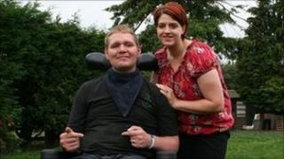 Cpl Simon Vaughan and wife Donna