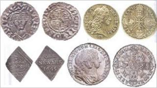Some of the coins that were stolen