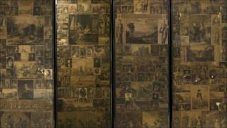 The screen decorated by Charles Dickens and William Mcready
