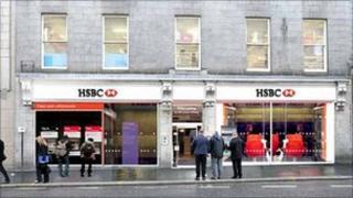 Artist's impression of new HSBC in Aberdeen