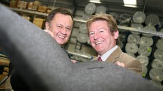 Cobra MD Gary Seale and Roy Pulley from Manufacturing Advisory Service West Midlands