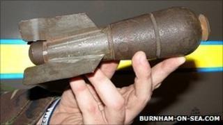 WWI mortar bomb - Burnham-on-Sea.com