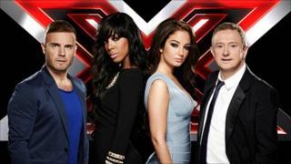 X Factor judges Gary Barlow, Kelly Rowland, Tulisa Contostavlos and Louis Walsh