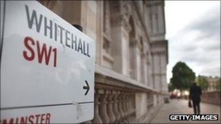 Sign pointing towards Whitehall