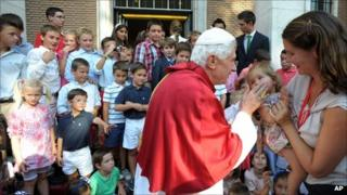 Pope Benedict XVI meets young people in Madrid, 19 August