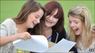 Students receive results