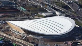 The site of the Olympic velodrome in east London
