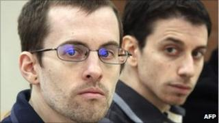 Picture of Shane Bauer (left) and Josh Fattal, released by Iran's state-run Press TV on 6 February 2011