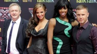 The new X Factor judge line-up for 2011 - Louis Walsh, Tulisa Contostavlos, Kelly Rowland and Gary Barlow
