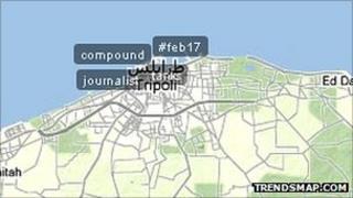 Trendsmap on Tripoli