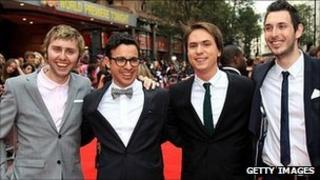 James Buckley, Simon Bird, Joe Thomas and Blake Harrison at the premiere of The Inbetweeners Movie