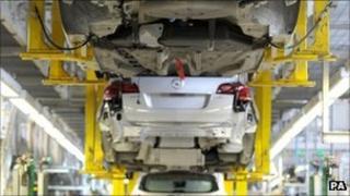 Car production at Vauxhall Ellesmere Port