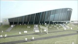 Derby velodrome architect's design