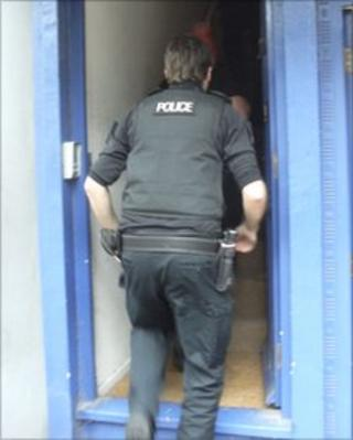 Gloucestershire Police make an arrest at an address in Stroud