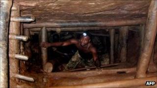 DR Congo miner (file photo)