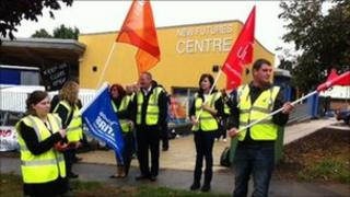 Youth workers on strike in Banbury