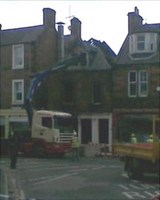 Scene of the fire at Mulligans public house