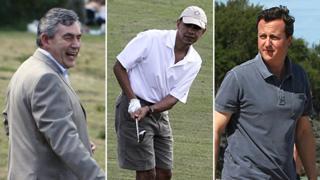 Gordon Brown, Barack Obama and David Cameron on holiday