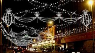Blackpool's Bling illumination for 2011