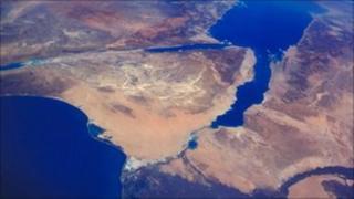 Satellite photo of Nile Delta