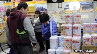 Consumers shopping in Japan