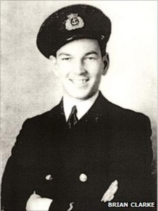 Brian Clarke in uniform