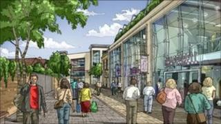 Artists impression of the new Bure Square