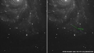 Supernova image from the University of Oxford