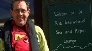 Peter Luff on Hirta, St Kilda. Pic: MoD