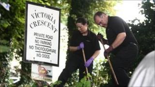 Scene of stabbings in Victoria Crescent