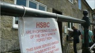 HSBC protest sign