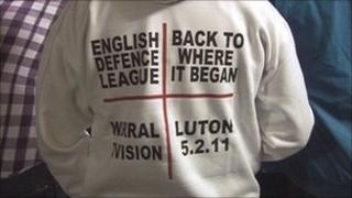 An English Defence League supporter