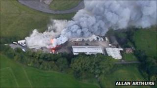 Fire at Lasham industrial site