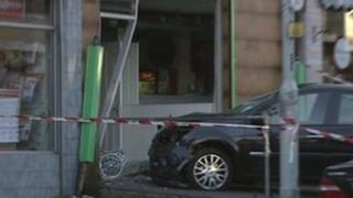 Car crash in north Belfast