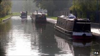 Boats on the Llangollen Canal