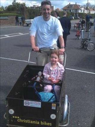 Duncan Kay with his three-year-old daughter