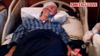 Abdelbaset al-Megrahi at his Tripoli home. Image courtesy of CNN