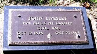Bronze plaque to Private John Livesley
