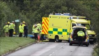 A273 accident scene