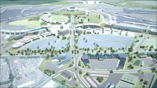 An artist's impression of the developed Silverstone estate.