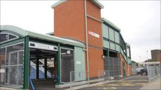 The newly opened second entrance at Witham train station