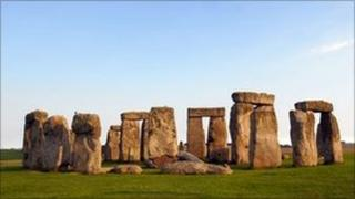The prehistoric stone circle of Stonehenge, Wiltshire