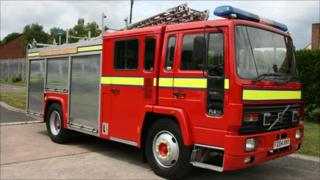 This south Wales fire engine was sent to Serbia last year