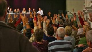 Public meeting at Stroud Subscription Rooms