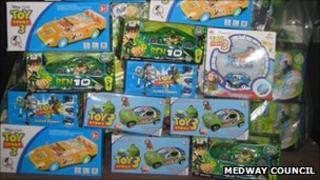 Haul of fake toys