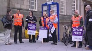 Nottinghamshire Police civilian staff on strike