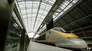 Eurostar train at St Pancras