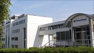 The Pitney Bowes building in Harlow