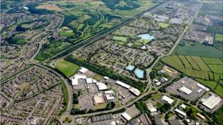 An artist's impression of the new development called Glan Llyn